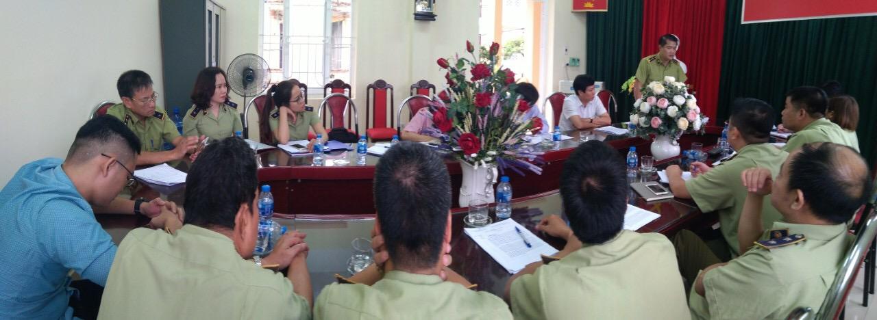 Hà Nội: Đoàn công tác của Đảng uỷ khối các cơ quan thành phố Hà Nội và Đảng uỷ Cục Quản lý thị trường thành phố Hà Nội