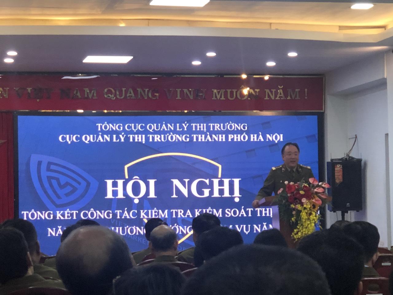 QLTT Hà Nội: Tổ chức Hội nghị tổng kết công tác kiểm tra kiểm soát thị trường năm 2020, phương hướng nhiệm vụ năm 2021
