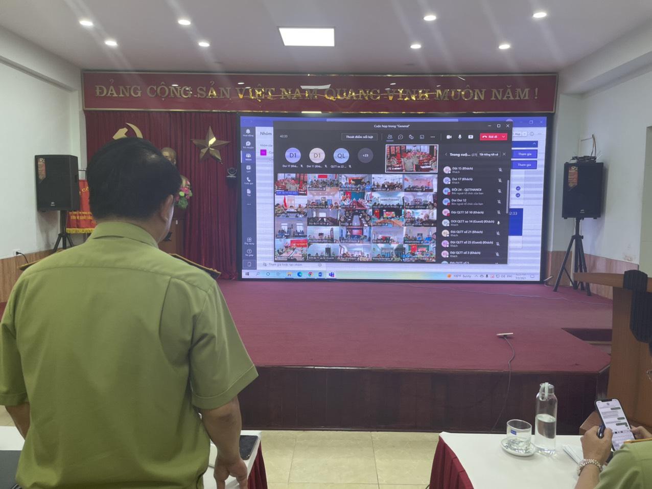 QLTT Hà Nội: Tổ chức hội nghị sơ kết công tháng 6 tháng đầu năm 2021 theo hình thức trực tuyến.